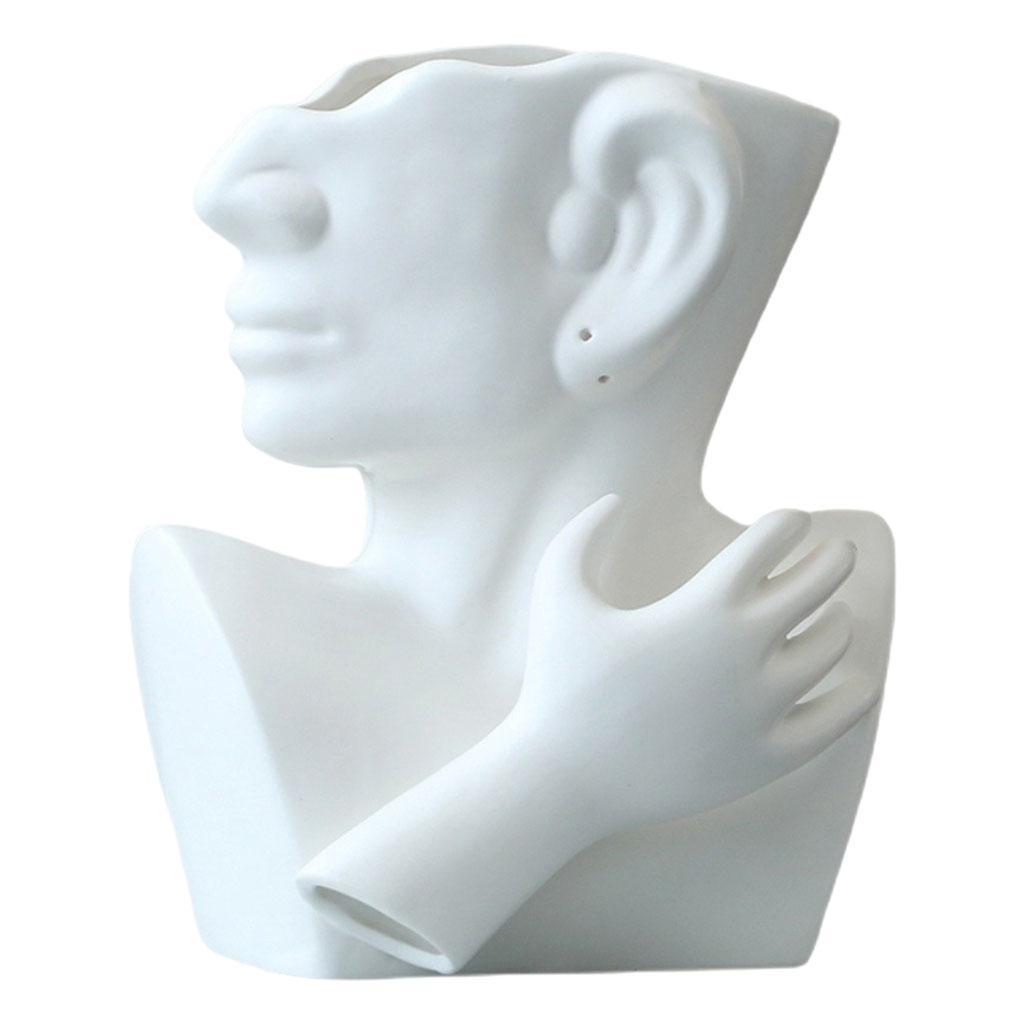 Indexbild 6 - Kreative Keramik Gesicht Vase Blumentöpfe Portrait Home Wohnzimmer
