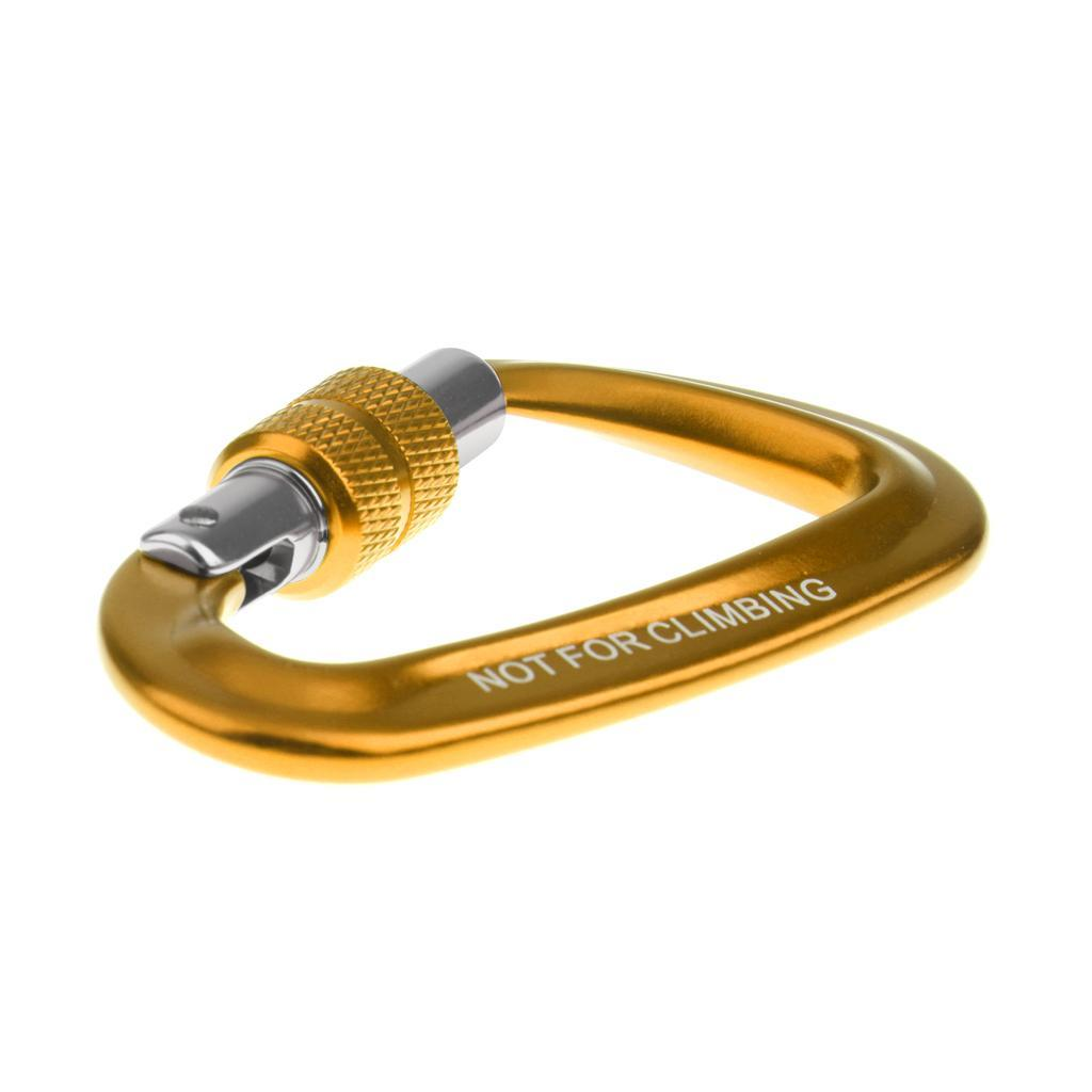12KN-Carabiner-Clip-Key-Chain-Camping-Hiking-Backpack-Hammock-Screw-Locking-Hook thumbnail 13