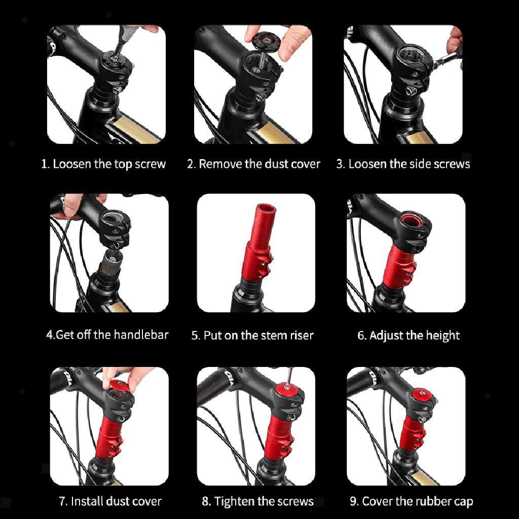 MTB Bike Fork Stem Extender Bicycle Cycle Handlebar Riser Adapter Head Up Raiser