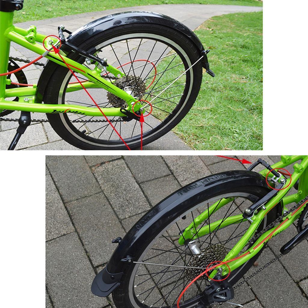 Unbreakable Mudguards Folding BMX Bike City V-brake front /& rear Mud Guard Set