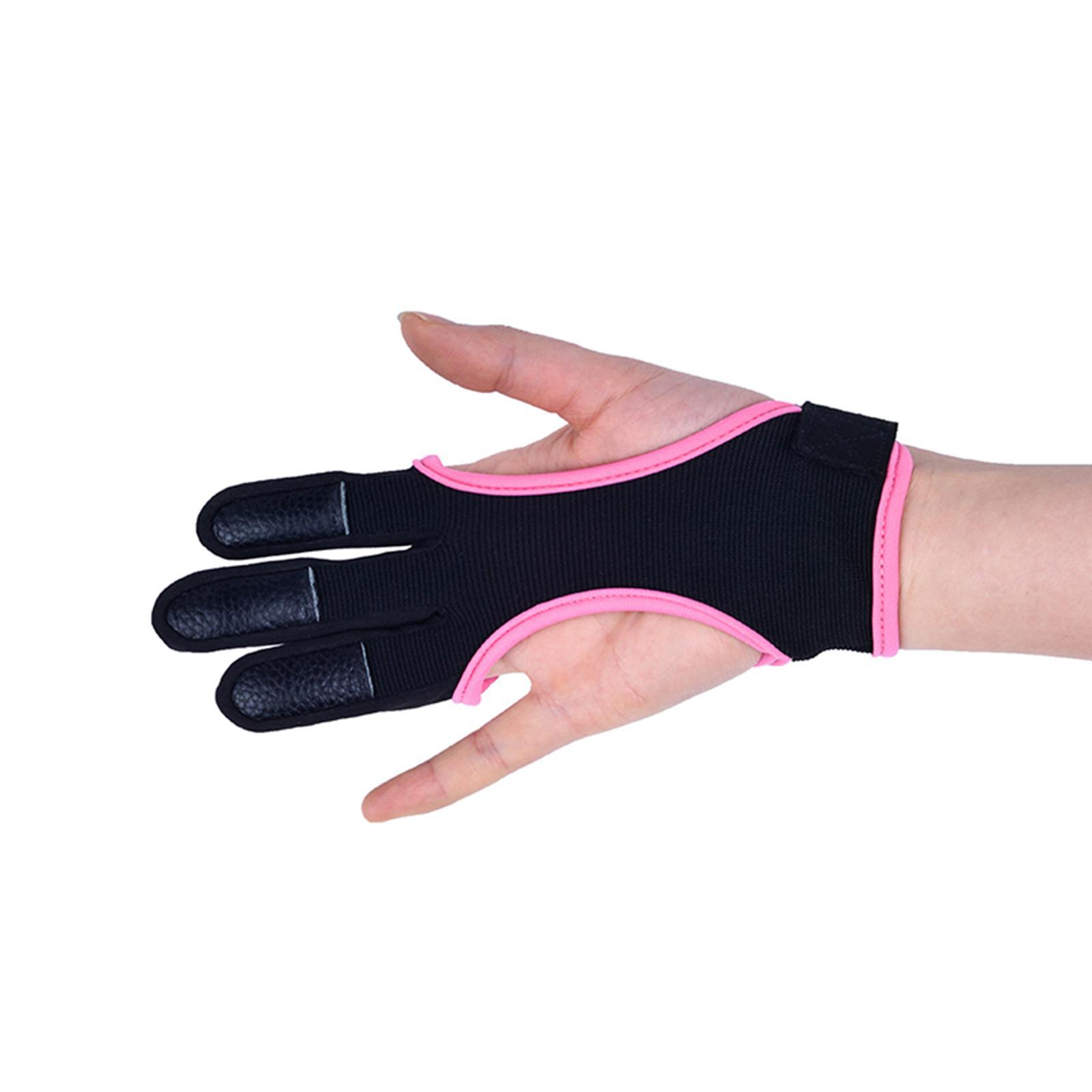 thumbnail 4 - 1 Piece Archery Gloves Shooting Hunting Leather Three Finger Protector for Youth