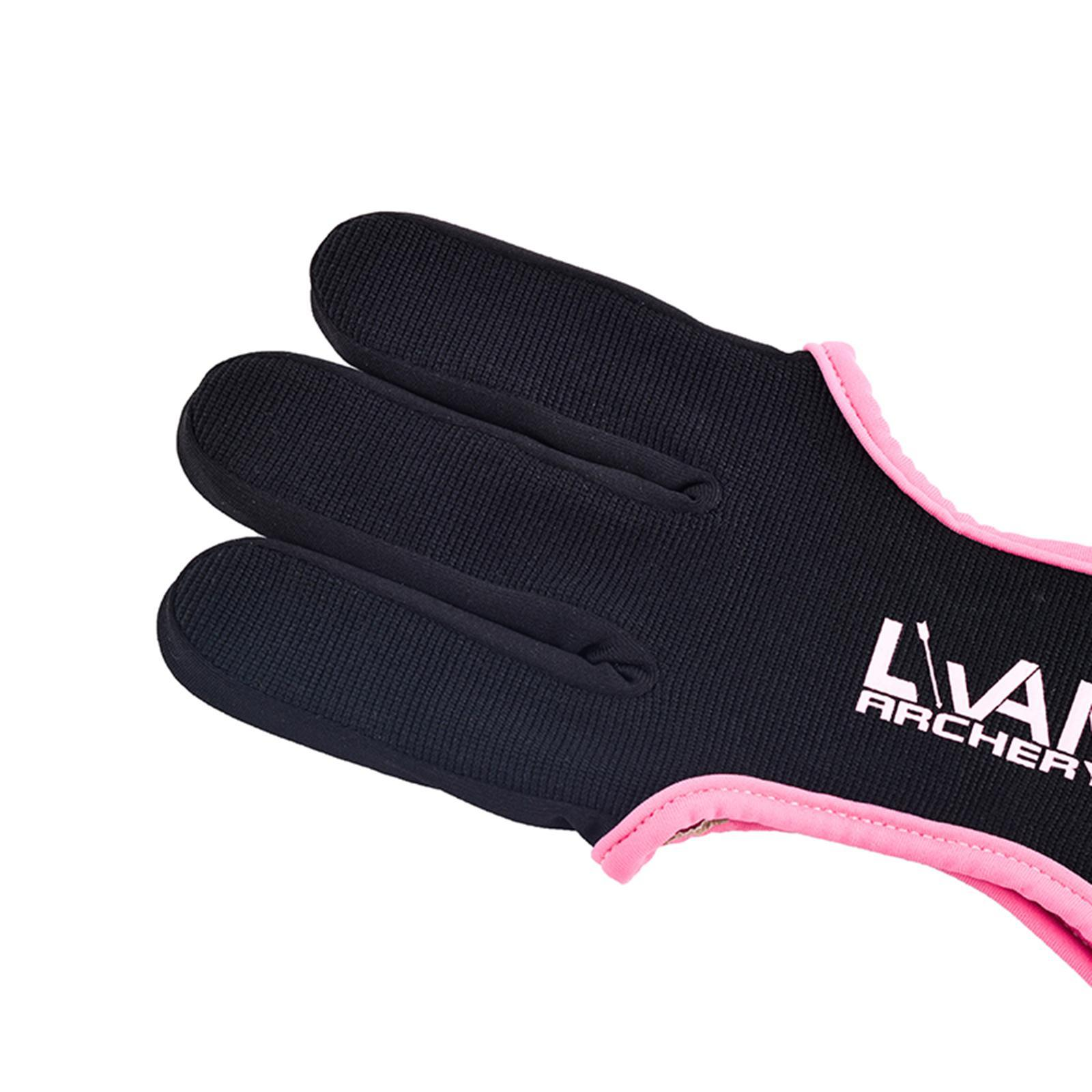 thumbnail 9 - Archery Glove for Recurve & Compound Bow 3 Finger Guard for Women Men Youth