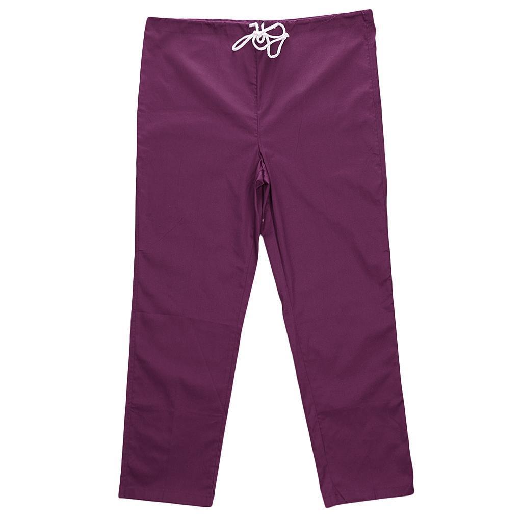 Men-Women-Scrub-Sets-Medical-Spa-Nursing-Clinic-Hospital-Uniform-Top-Pants miniature 3
