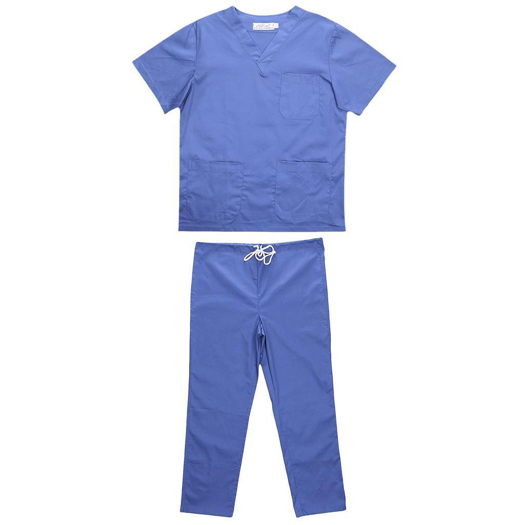 Men-Women-Scrub-Sets-Medical-Spa-Nursing-Clinic-Hospital-Uniform-Top-Pants miniature 28