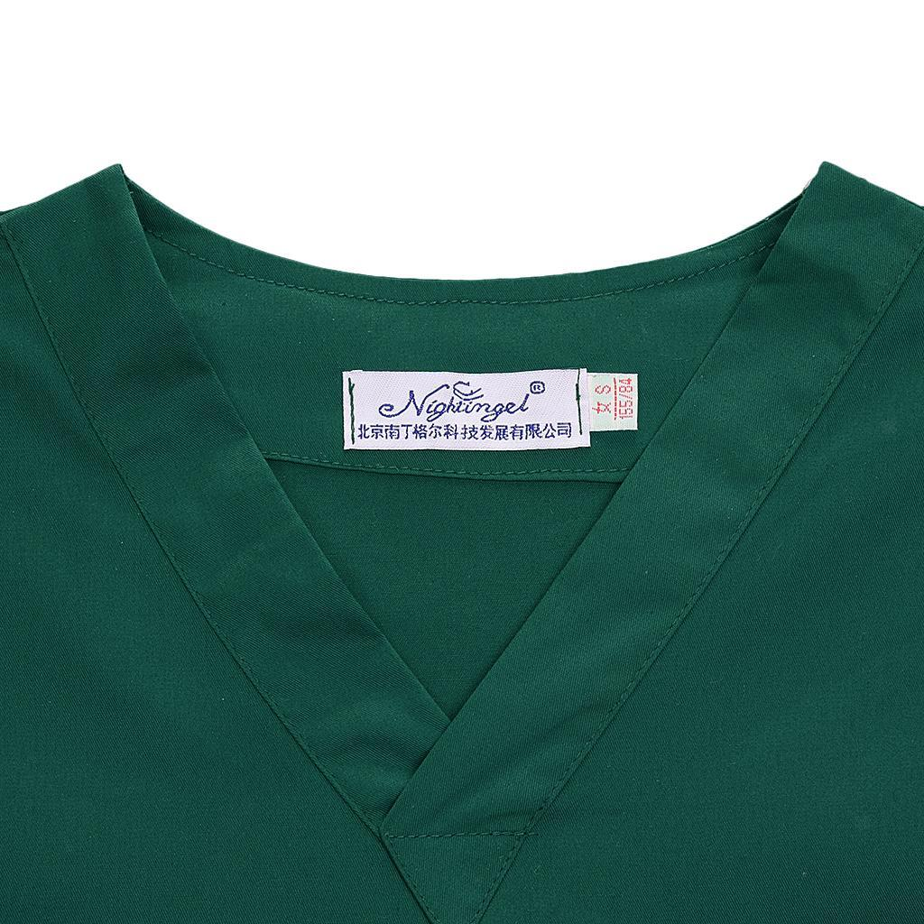 Men-Women-Scrub-Sets-Medical-Spa-Nursing-Clinic-Hospital-Uniform-Top-Pants miniature 56