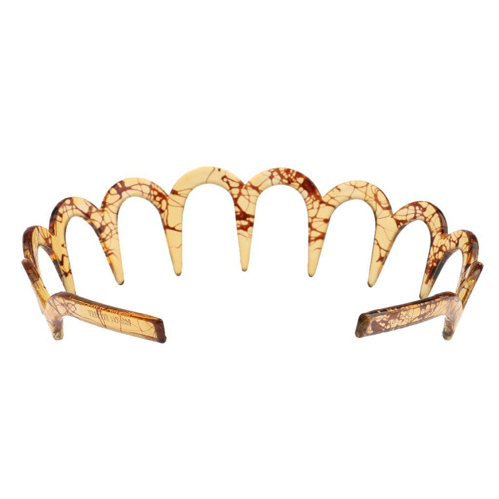 2x New Resin Shark Tooth Zigzag Headband Alice Band Sports Women Men Supplie