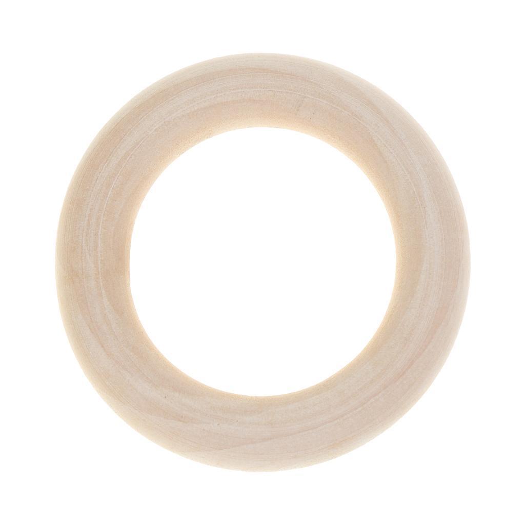 20Pcs-Multifunction-DIY-Teether-Rings-Wooden-Teething-Rings-for-Toddler-Toys thumbnail 18