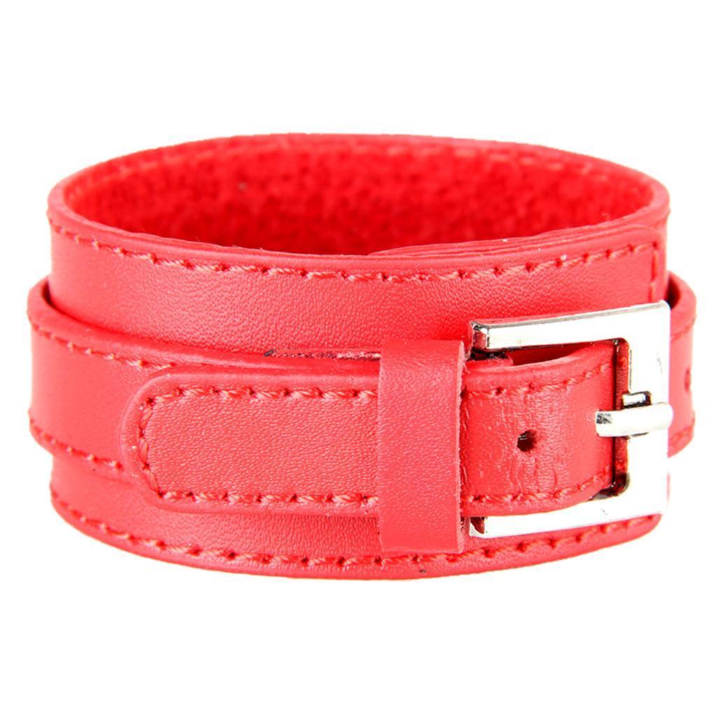 Indexbild 13 - Modeschmuck Pu Kuh Leder Breite Stulpe Armband Snap Armreif Für Männer Frauen