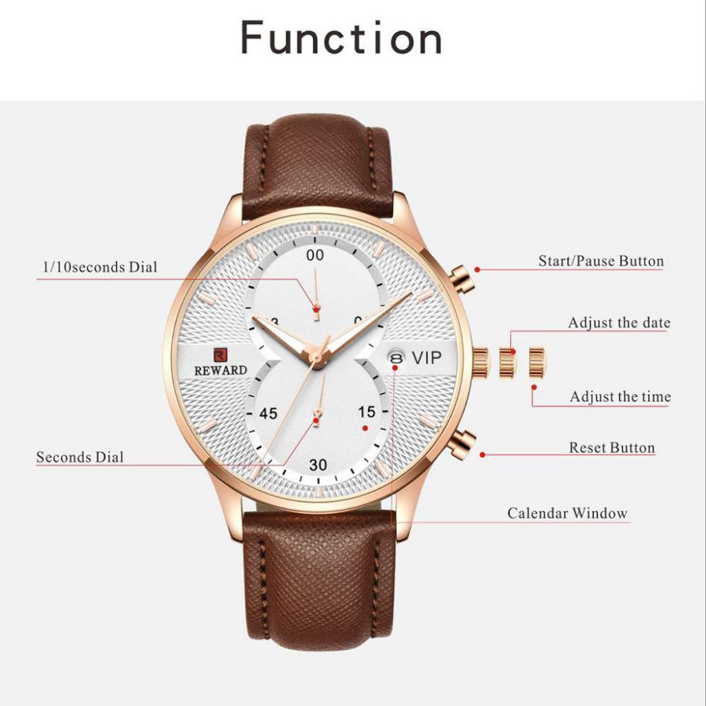 Indexbild 3 - Herrenuhr-Mode-Wasserdicht-Analog-Quarz-Uhr-mit-PU-Leder-Armband-Datum