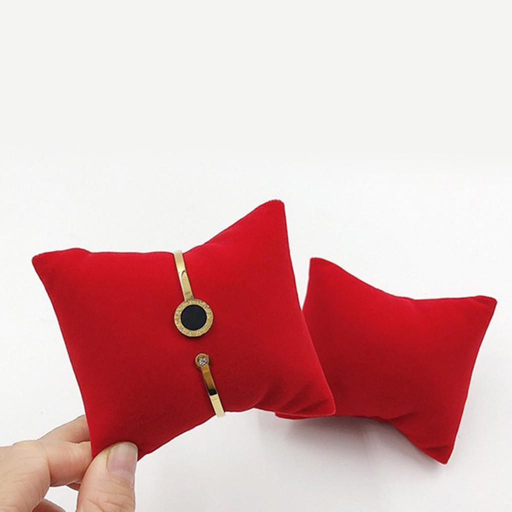 thumbnail 7 - Velvet Jewelry Display Pillow 8x7cm Mini Cushion Holder For Precious Watches