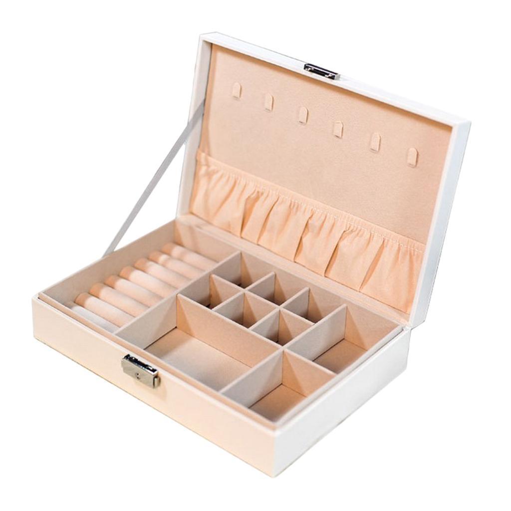 Boite-a-Bijoux-Boite-De-Bague-Multi-usages-Boucles-D-039-oreilles-Collier-Bijoux miniature 4