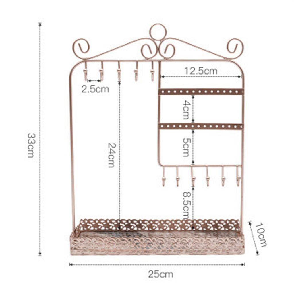 Indexbild 26 - Alle-in-1 Ohrring Halskette Schmuck Display Zeigen Rack Metall Ständer Halter