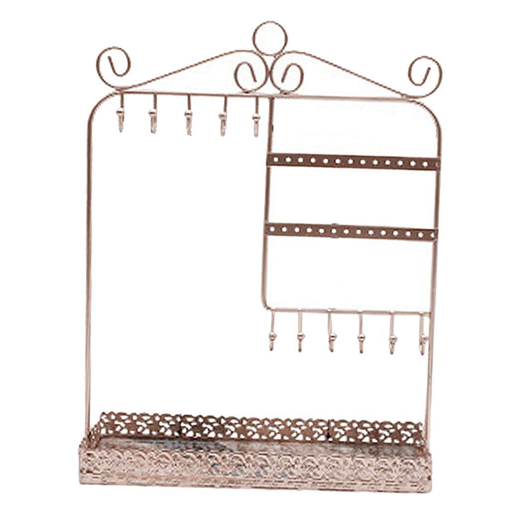 Indexbild 20 - Alle-in-1 Ohrring Halskette Schmuck Display Zeigen Rack Metall Ständer Halter