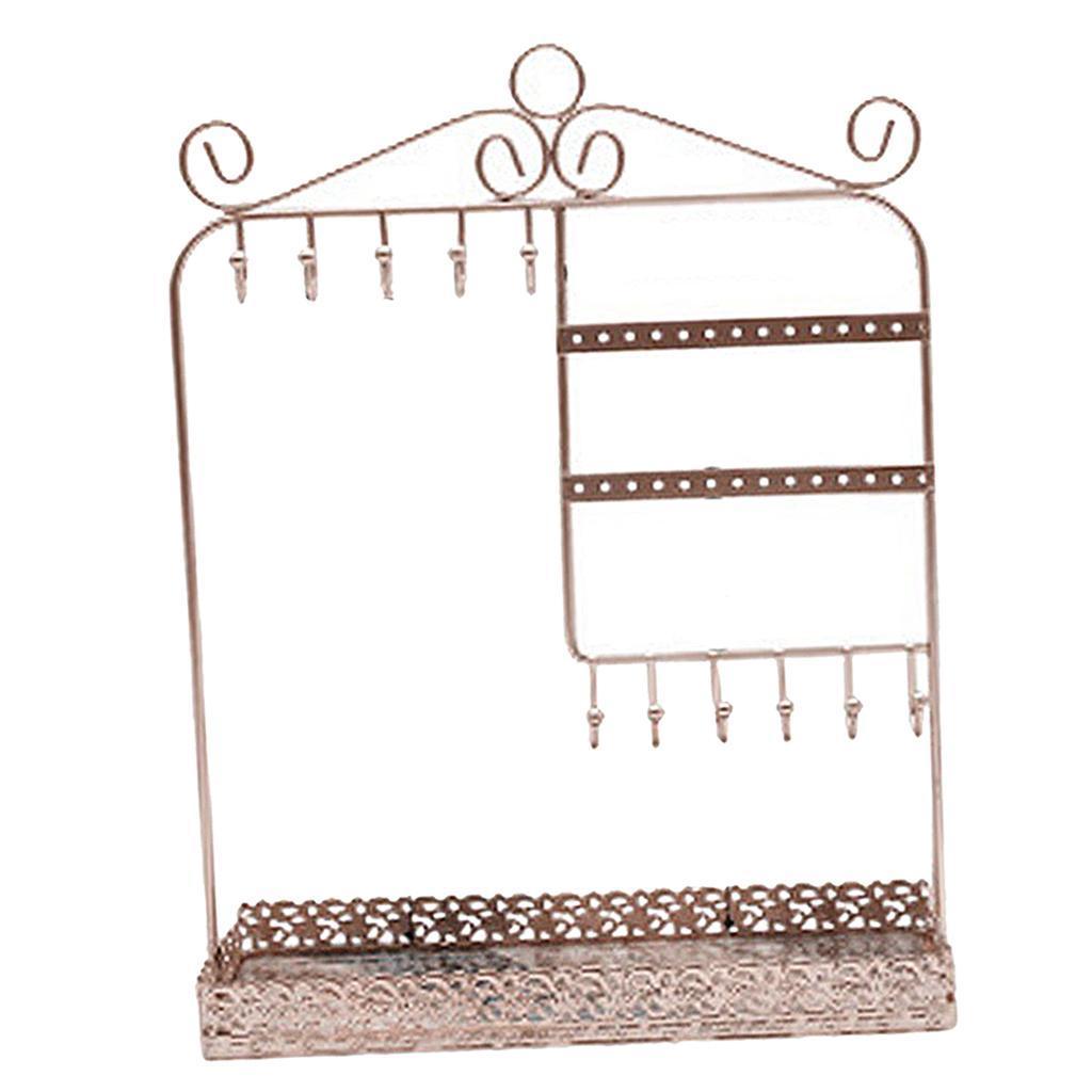 Indexbild 21 - Alle-in-1 Ohrring Halskette Schmuck Display Zeigen Rack Metall Ständer Halter
