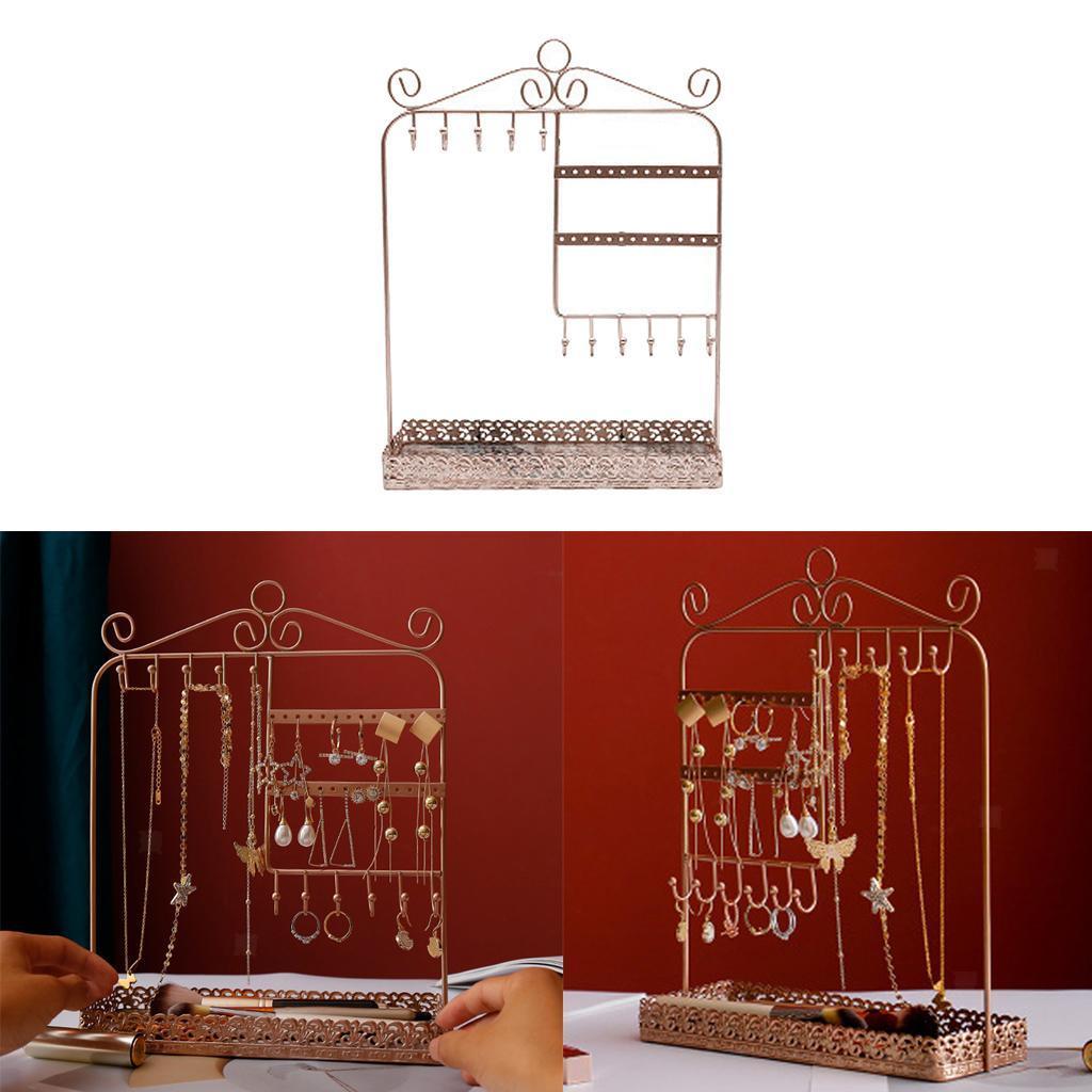 Indexbild 16 - Alle-in-1 Ohrring Halskette Schmuck Display Zeigen Rack Metall Ständer Halter