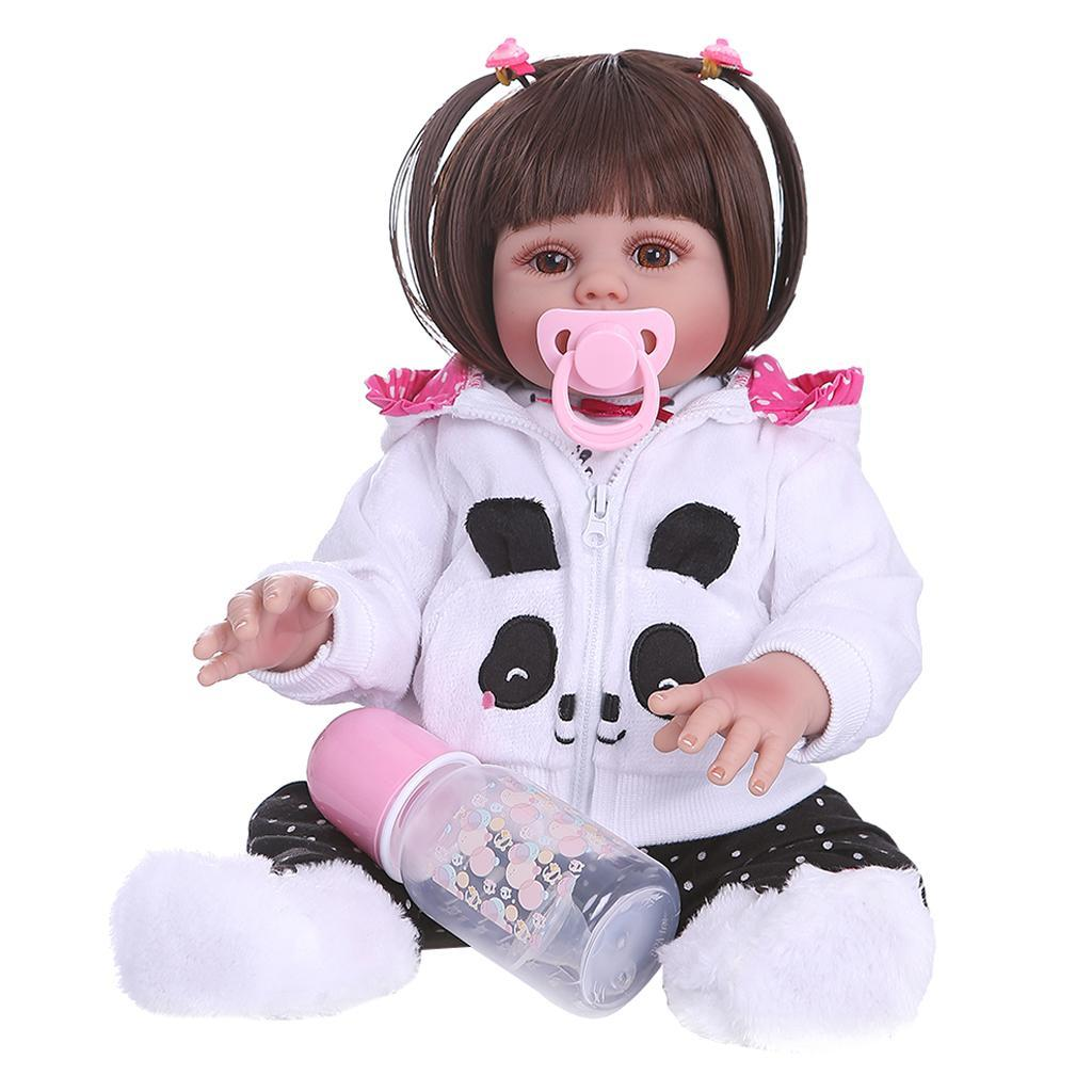 19-inch-Realistic-Babies-Dolls-Girls-Soft-Vinyl-Silicone-Kids-Gifts-Age-3 thumbnail 18
