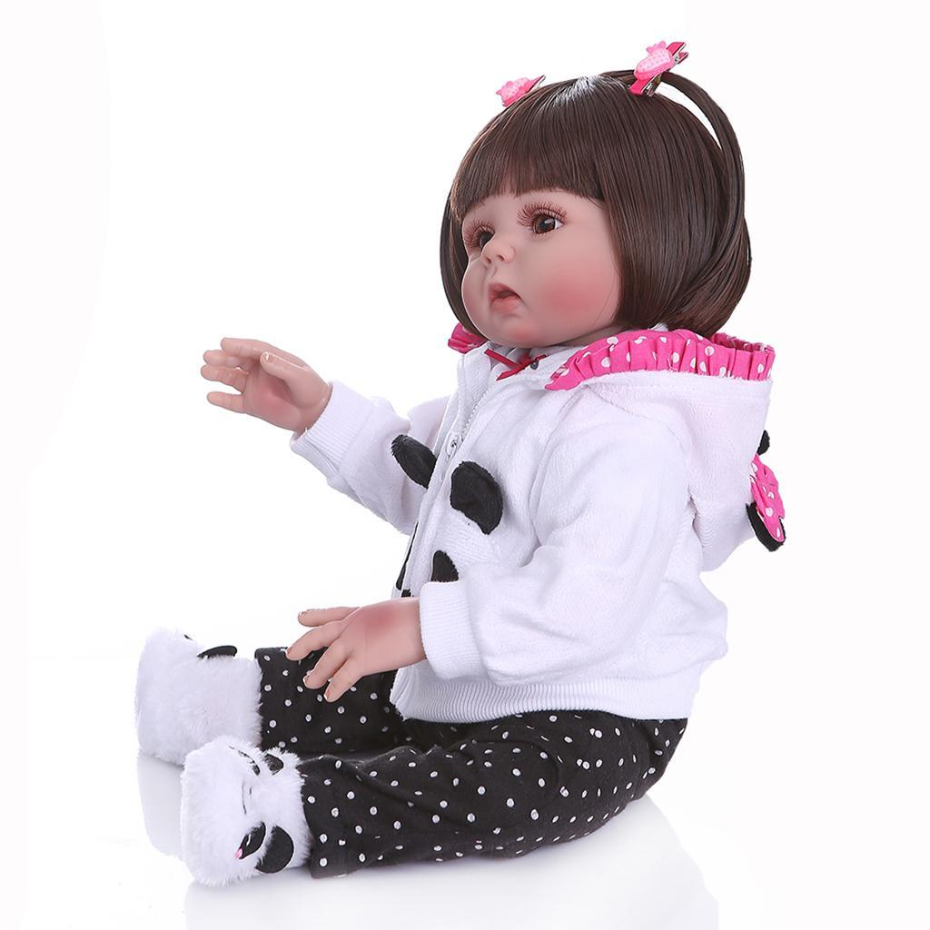 19-inch-Realistic-Babies-Dolls-Girls-Soft-Vinyl-Silicone-Kids-Gifts-Age-3 thumbnail 19