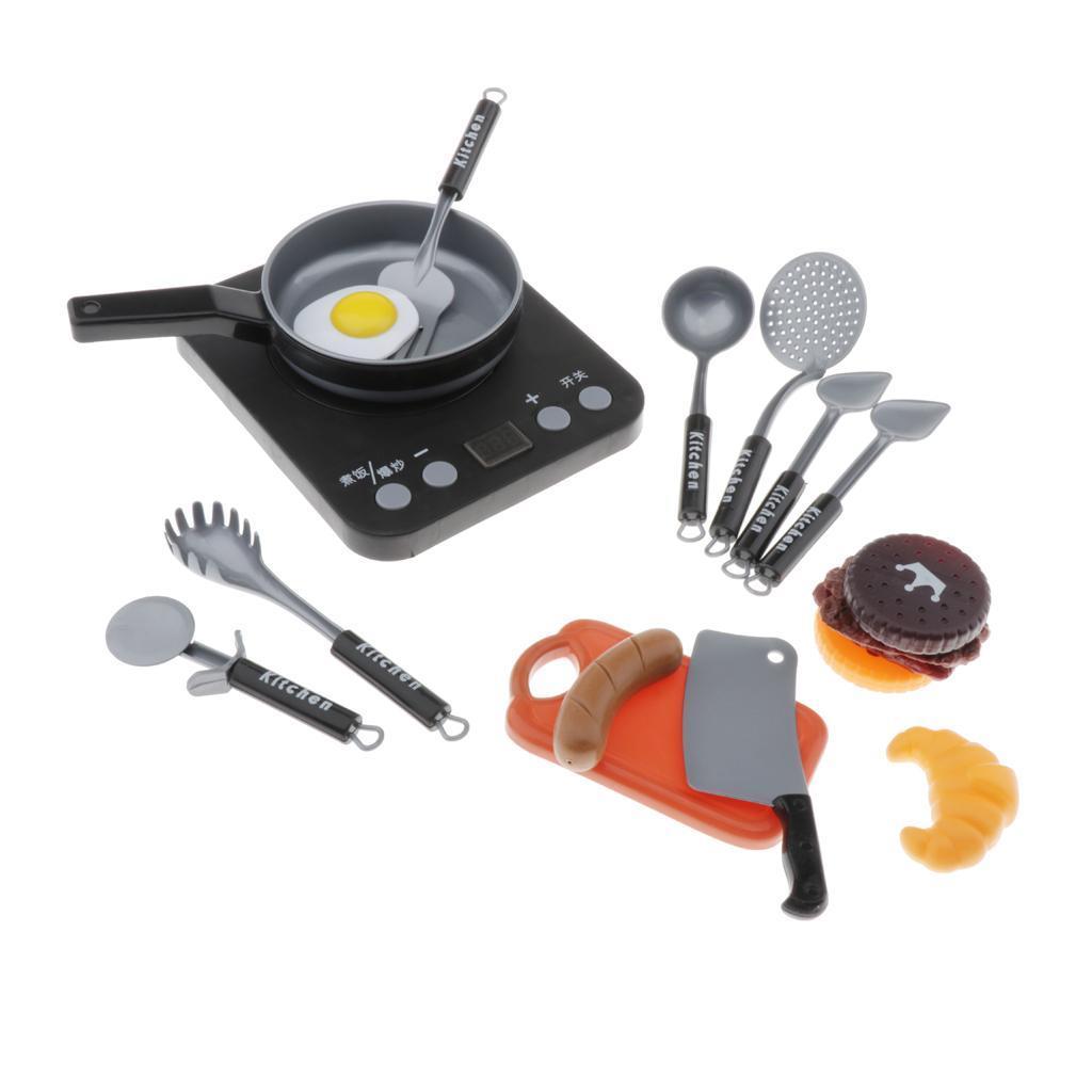 Set-Da-Gioco-In-Plastica-Per-Alimenti-E-Utensili-Da-Cucina-Per-Bambini miniatura 7