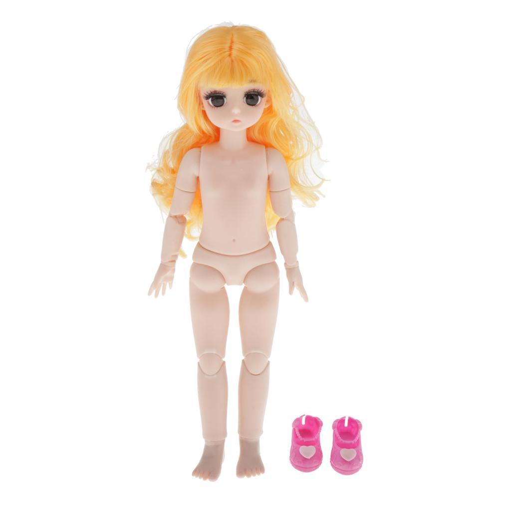28cm-BJD-Baby-Girl-Doll-Nude-Body-Fashion-Dolls-DIY-Toy-for-Girls-Gifts thumbnail 51