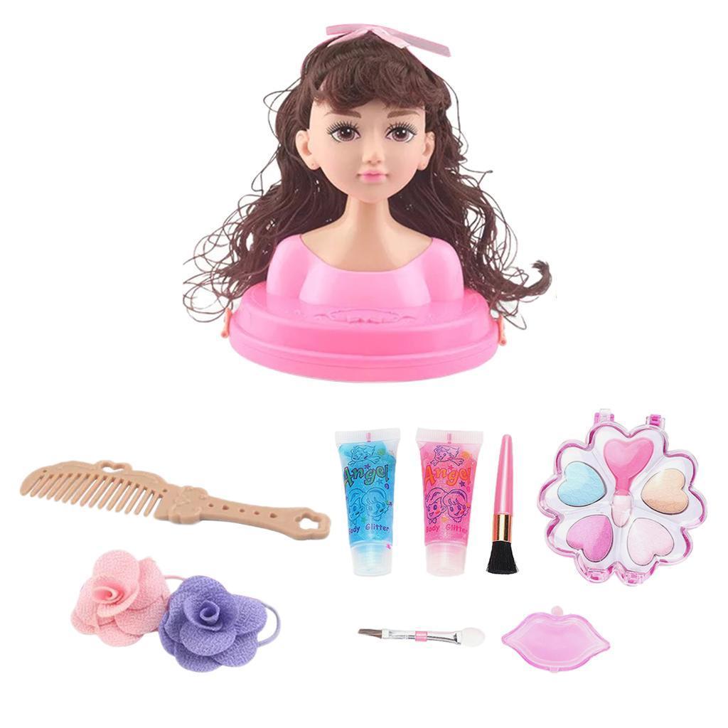 Muneca-para-Maquillar-y-Peinar-Juego-de-Estilo-de-Cabeza-de-Munecas-para miniatura 7