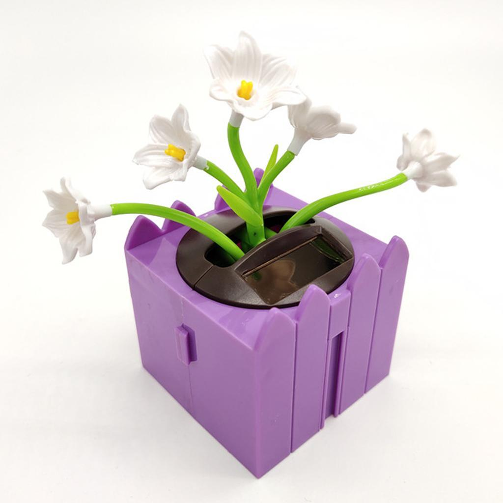 Cute-Dancing-Shaking-Swing-Flower-Blossom-Flowery-Bonsai-Toys-Office-Decor thumbnail 13