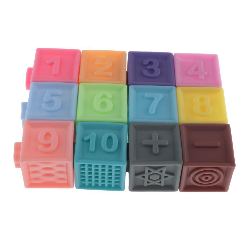 thumbnail 10 - Cartoon Baby Grasp Building Blocks 3D Embossed Touch Stacking Balls Squeeze