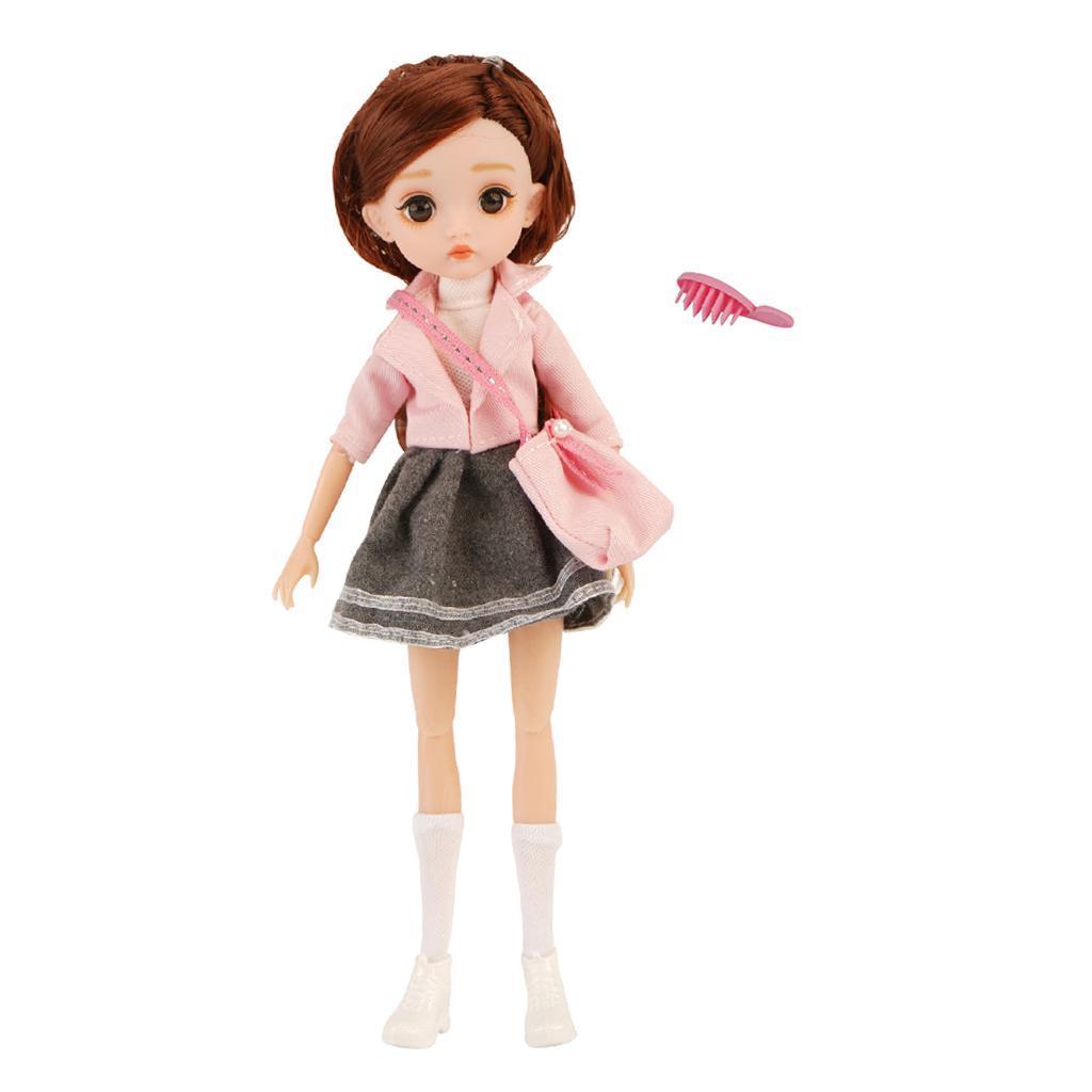 11-Joints-30cm-BJD-Doll-Cute-Dress-Up-3D-Big-Eyes-Girls-Princess-Doll-Toys thumbnail 15