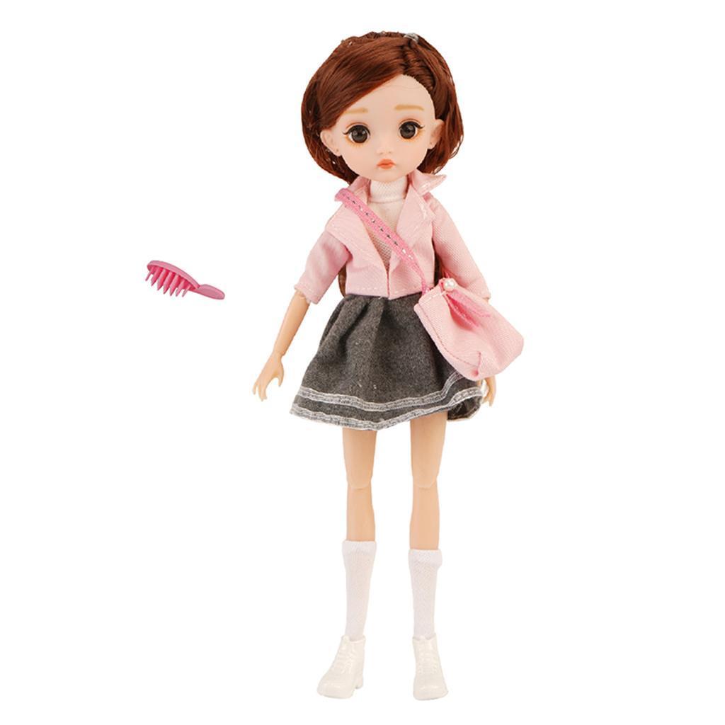 11-Joints-30cm-BJD-Doll-Cute-Dress-Up-3D-Big-Eyes-Girls-Princess-Doll-Toys thumbnail 17