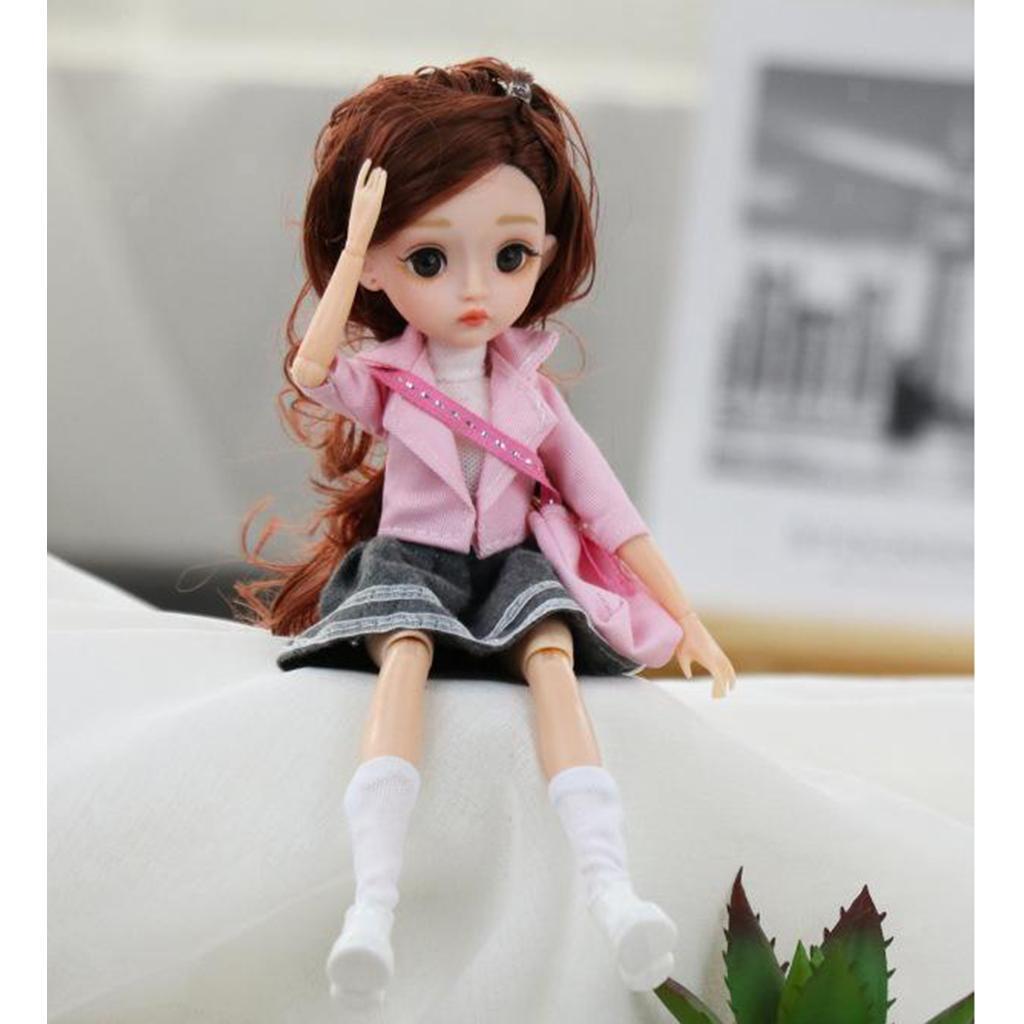 11-Joints-30cm-BJD-Doll-Cute-Dress-Up-3D-Big-Eyes-Girls-Princess-Doll-Toys thumbnail 18