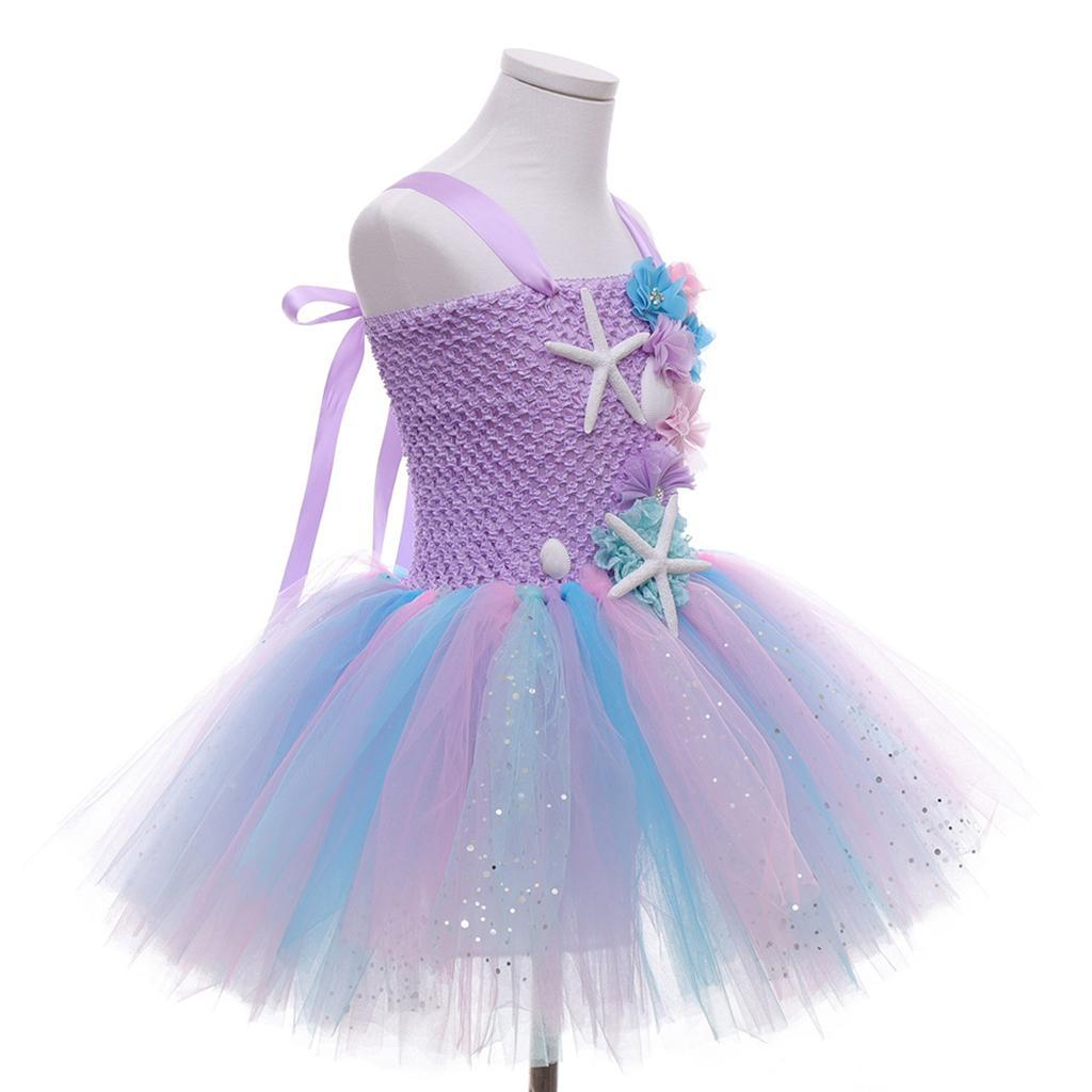 thumbnail 49 - Mermaid Tutu Dress Cosplay Kids Mermaid Costume 3 4 5 6 Years Old
