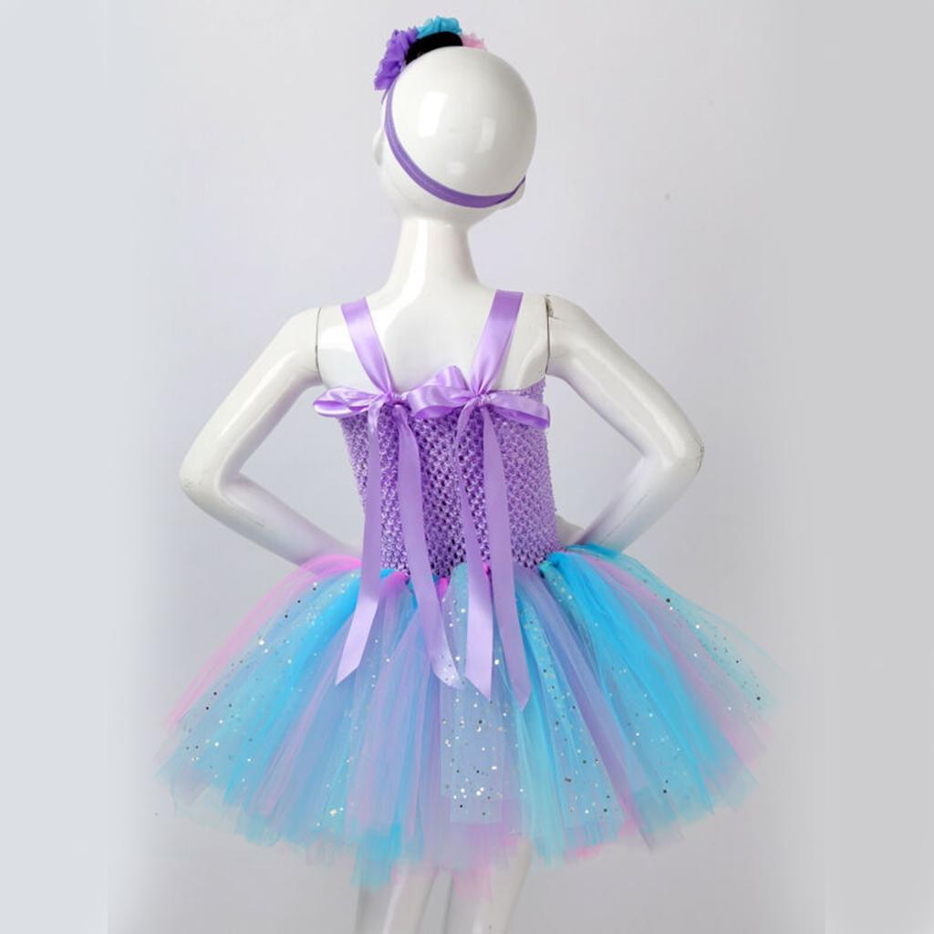 thumbnail 44 - Mermaid Tutu Dress Cosplay Kids Mermaid Costume 3 4 5 6 Years Old
