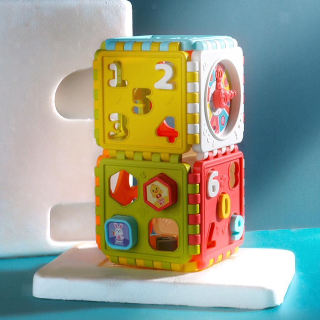 miniatura 11 - Di Attività del bambino Cubo Colorato Shape Sorter per 1 2 Anni I Ragazzi e