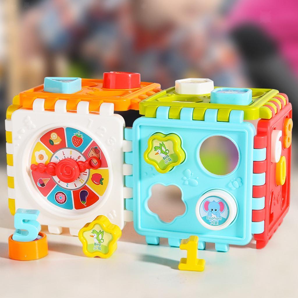 miniatura 5 - Di Attività del bambino Cubo Colorato Shape Sorter per 1 2 Anni I Ragazzi e