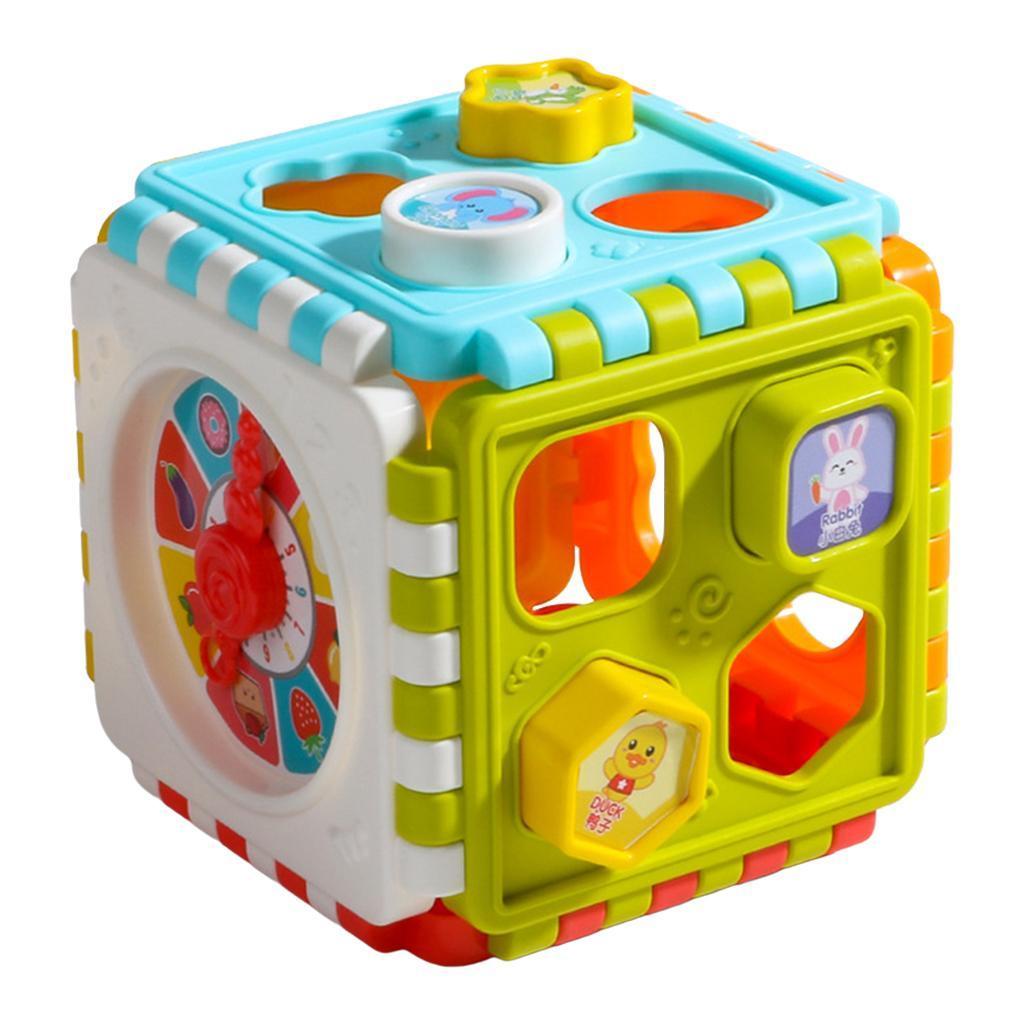 miniatura 8 - Di Attività del bambino Cubo Colorato Shape Sorter per 1 2 Anni I Ragazzi e