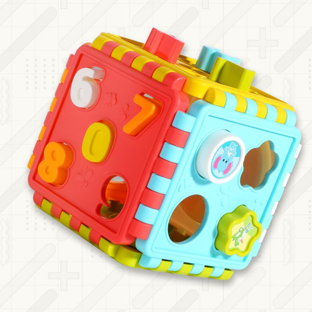miniatura 2 - Di Attività del bambino Cubo Colorato Shape Sorter per 1 2 Anni I Ragazzi e