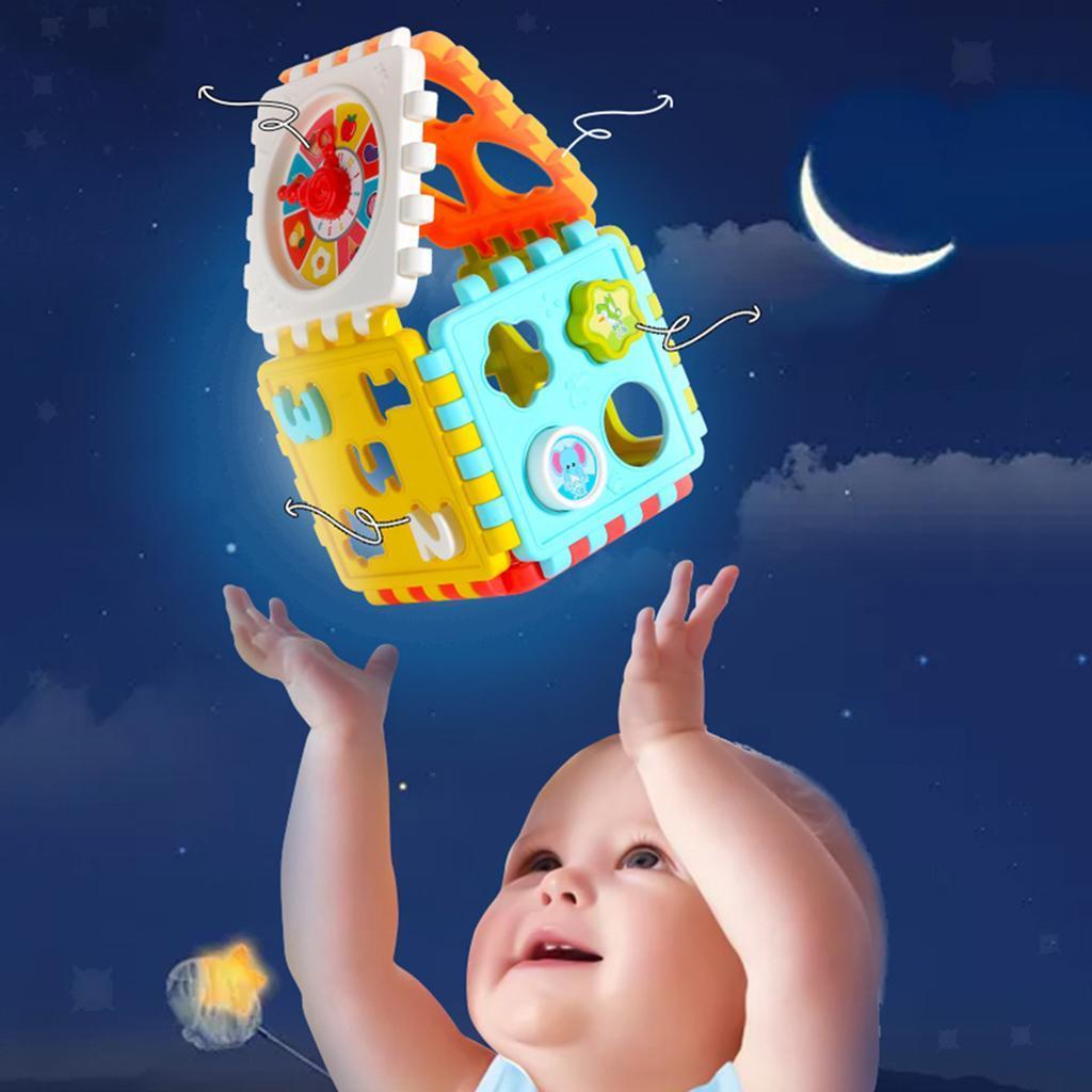 miniatura 9 - Di Attività del bambino Cubo Colorato Shape Sorter per 1 2 Anni I Ragazzi e