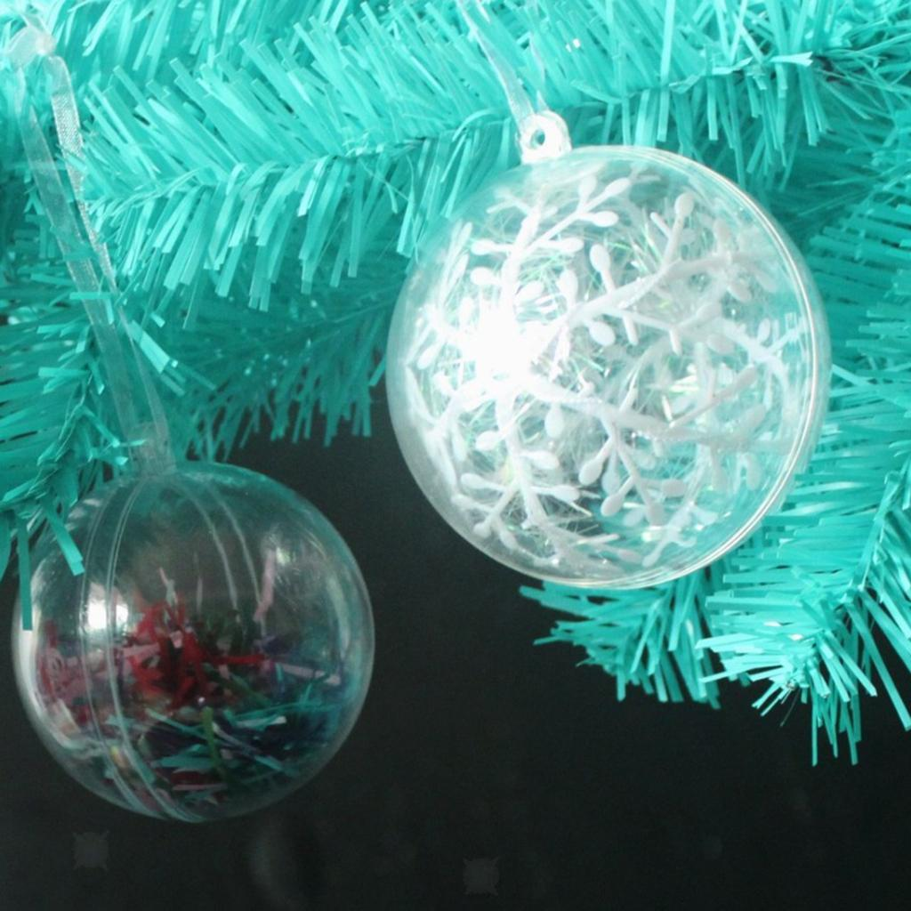 Brussel 1 boule de No/ël en plastique transparent /à remplir 6 cm