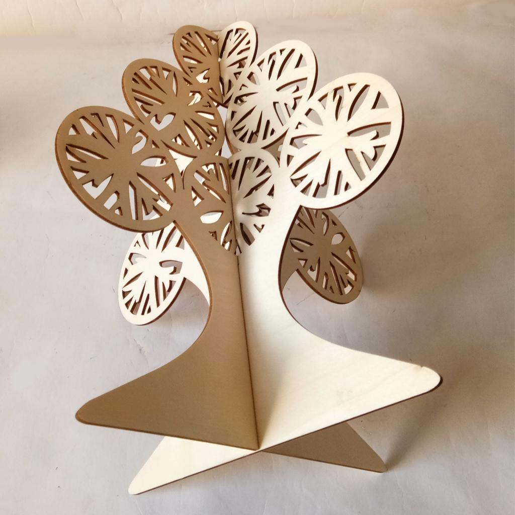 Tabletop Mini Wooden Christmas Tree Stand Ornaments for ...