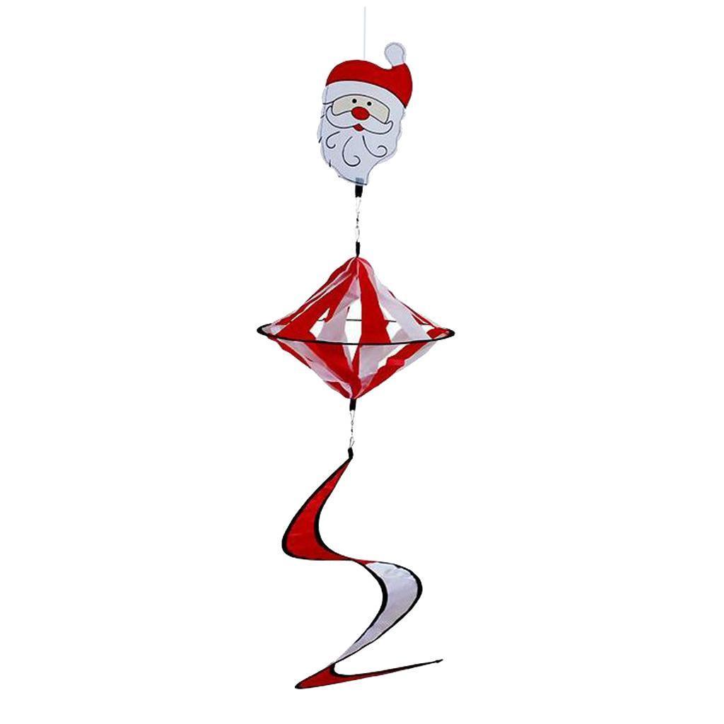 Santa Claus und Elch Design Elch wetterbest/ändig perfeclan Windspiel Spirale Toller Hingucker