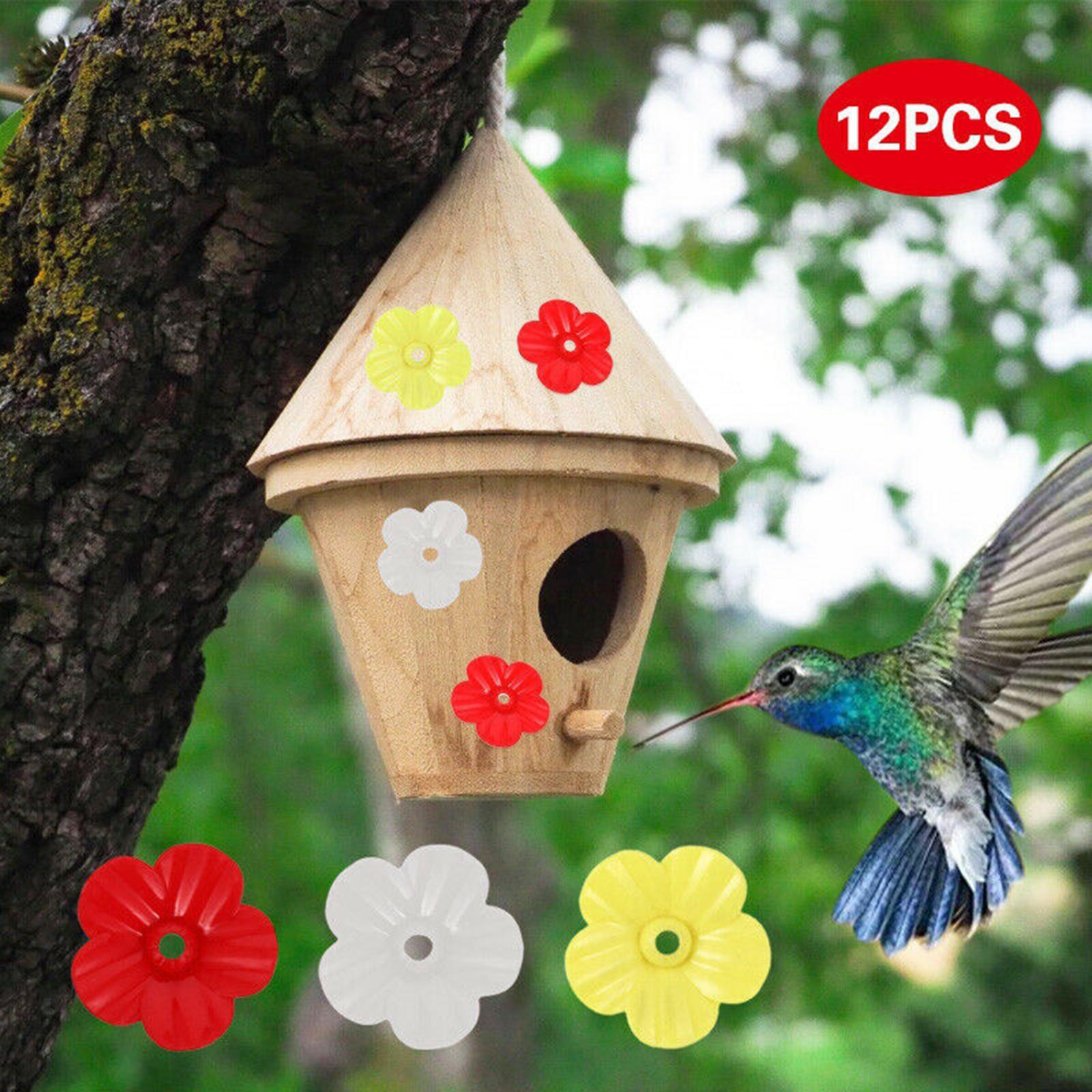 thumbnail 9 - Hanging hummingbird feeder replacement flower, feeding port, parts used supplies