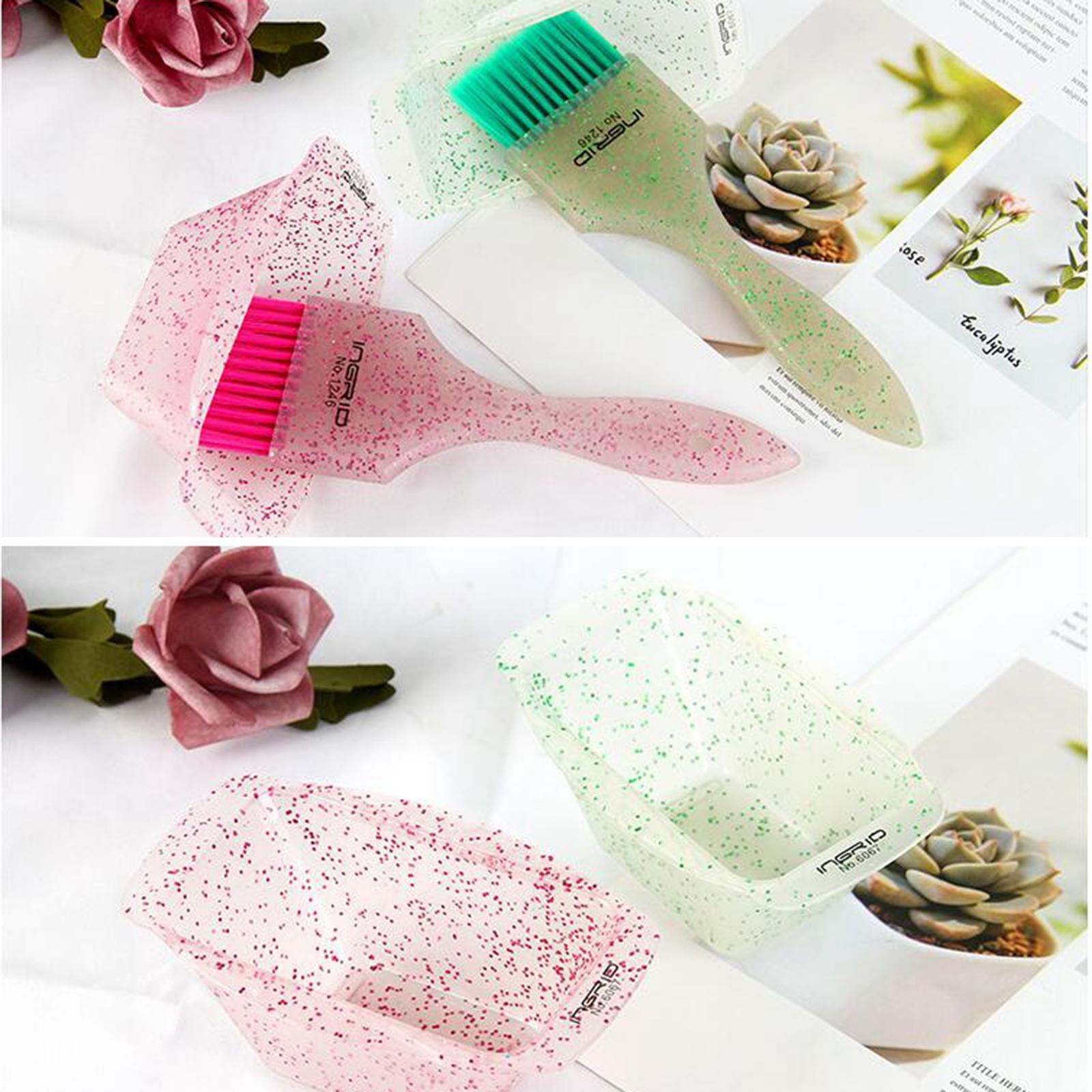 miniature 4 - Kit de teinture pour cheveux 3 pièces en plastique bol de coloration des