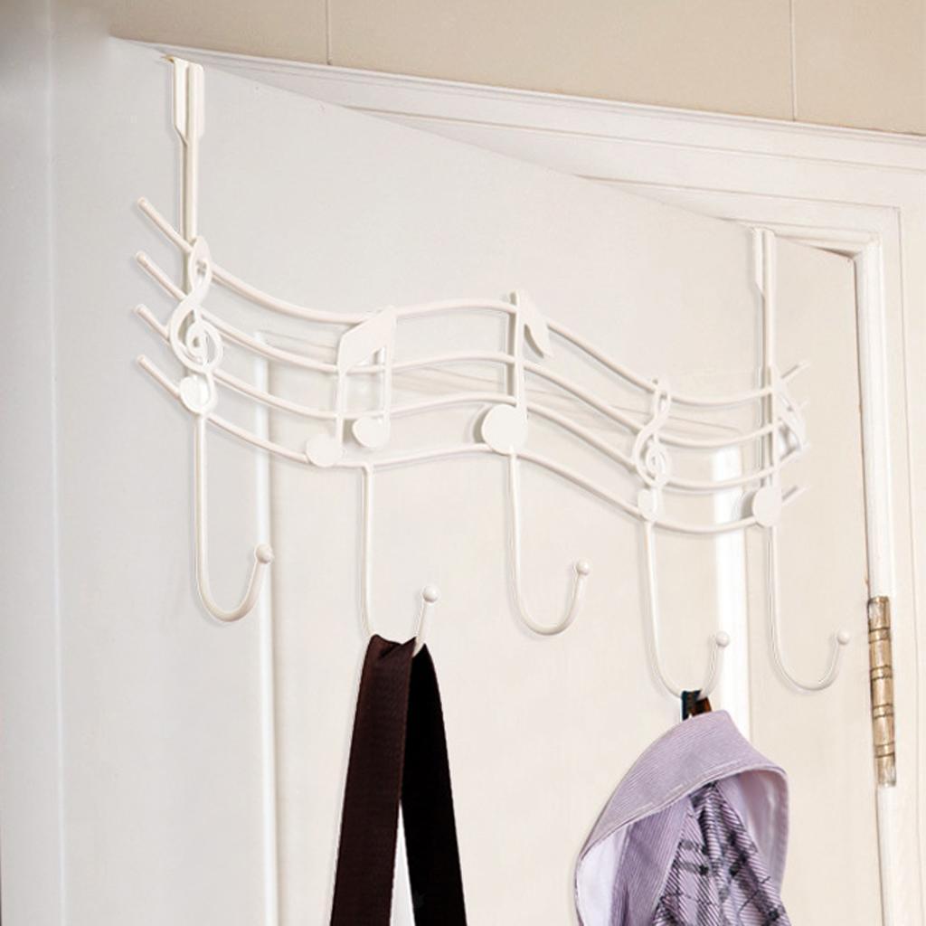 robusto-gancio-a-5-ganci-sopra-la-porta-gancio-gancio-lavanderia-organizer miniatura 6