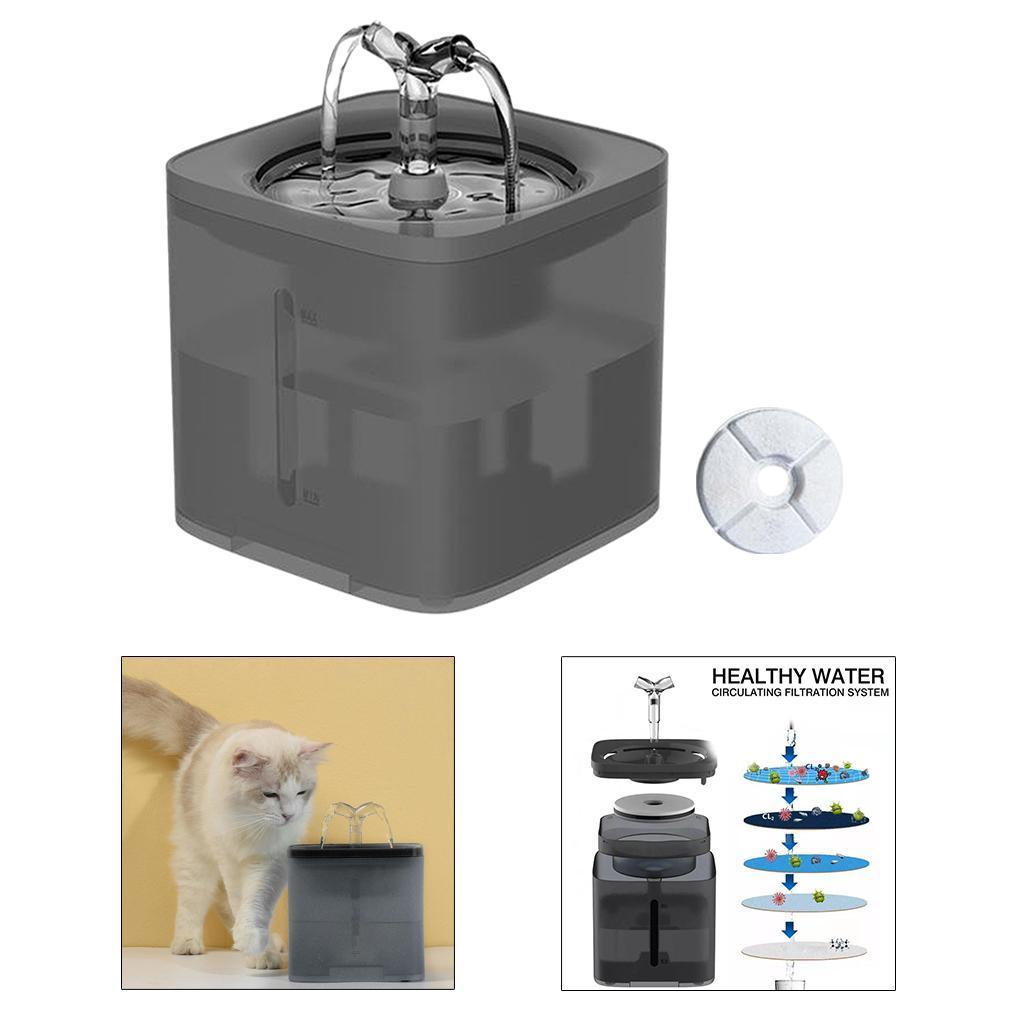 miniature 41 - 2L Chat Électrique Automatique Fontaine D'eau Potable Distributeur Bol USB