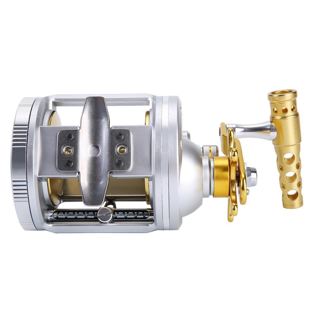 Mulinello-Pesca-Traina-Ultraleggero-Antiscivolo-Confortevole-Rotante-Drum-Mini miniatura 7