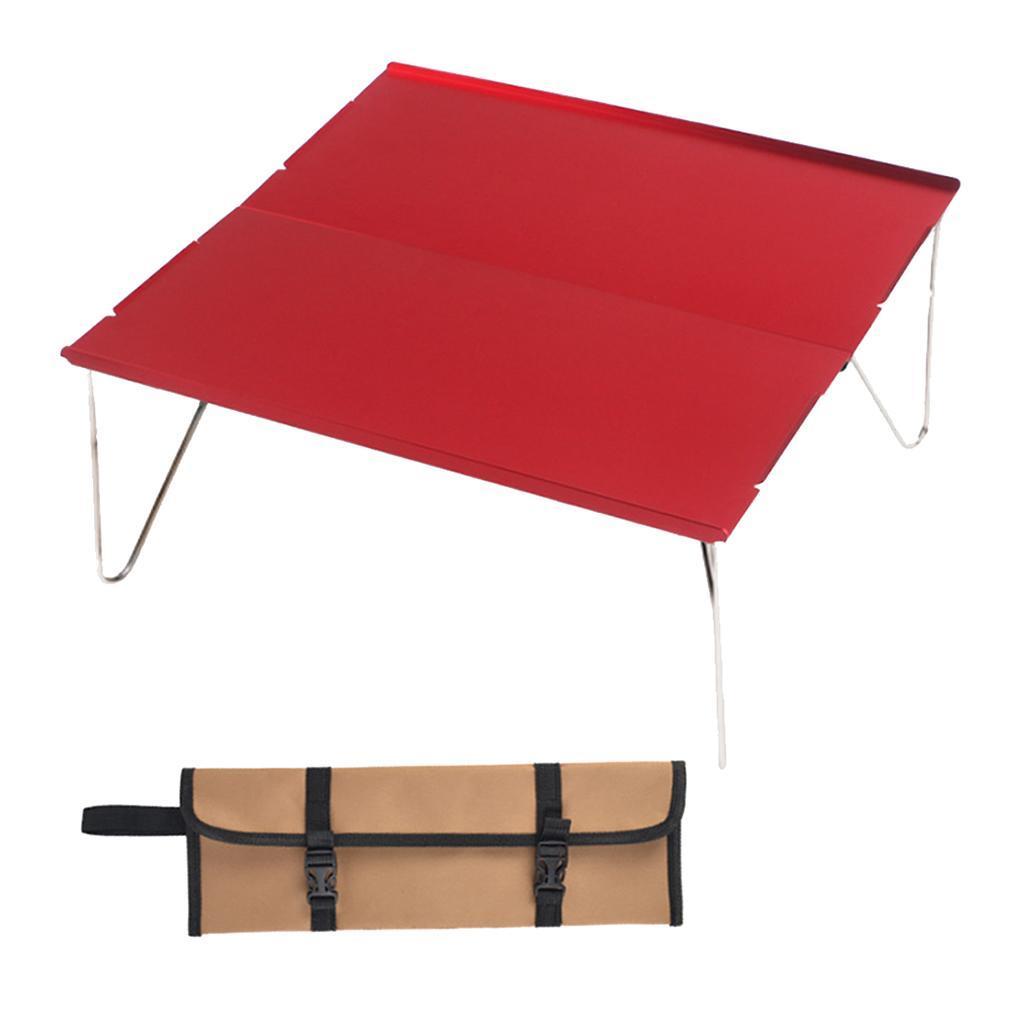 miniatura 3 - Piccolo tavolo da campeggio pieghevole leggero barbecue per roulotte da picnic