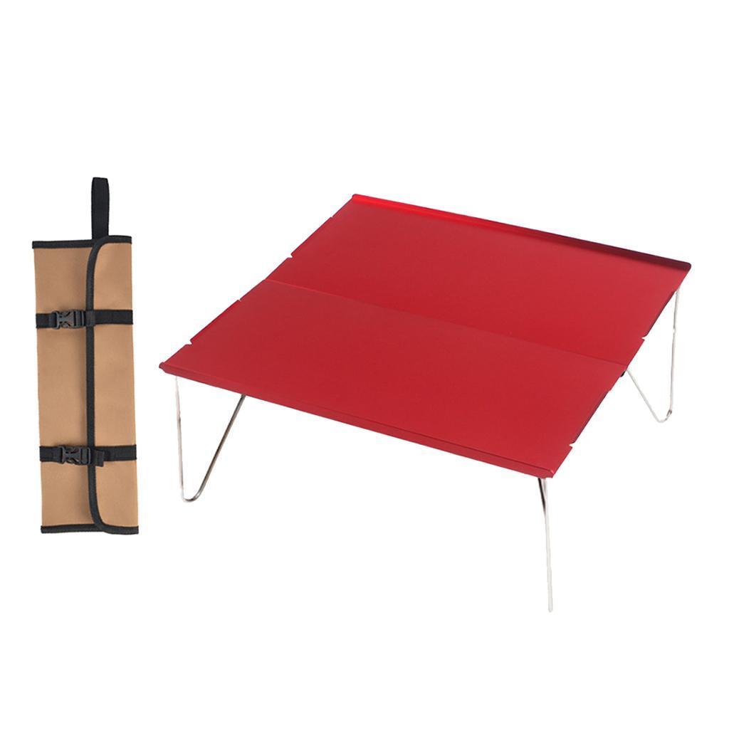 miniatura 4 - Piccolo tavolo da campeggio pieghevole leggero barbecue per roulotte da picnic