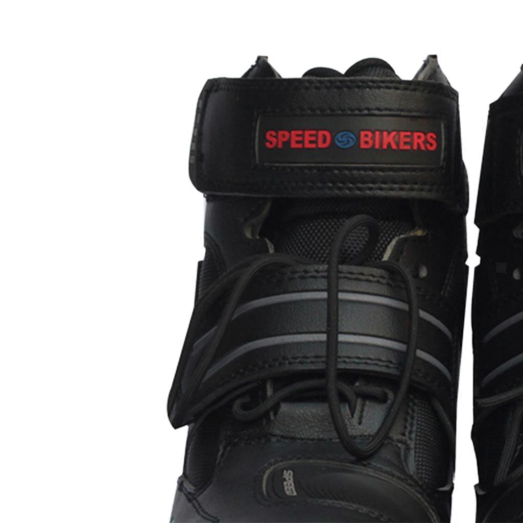1-PAIA-CORTO-MOTO-Protezione-Caviglia-Stivali-Scarpe-Antiscivolo-Sports miniatura 4