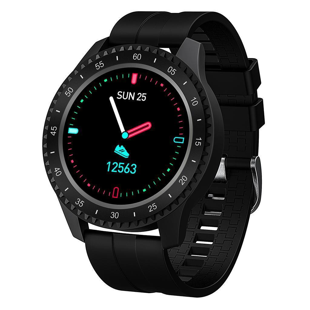 F17 Bluetooth Smart Uhr Herz Rate Blutdruck Erkennung..