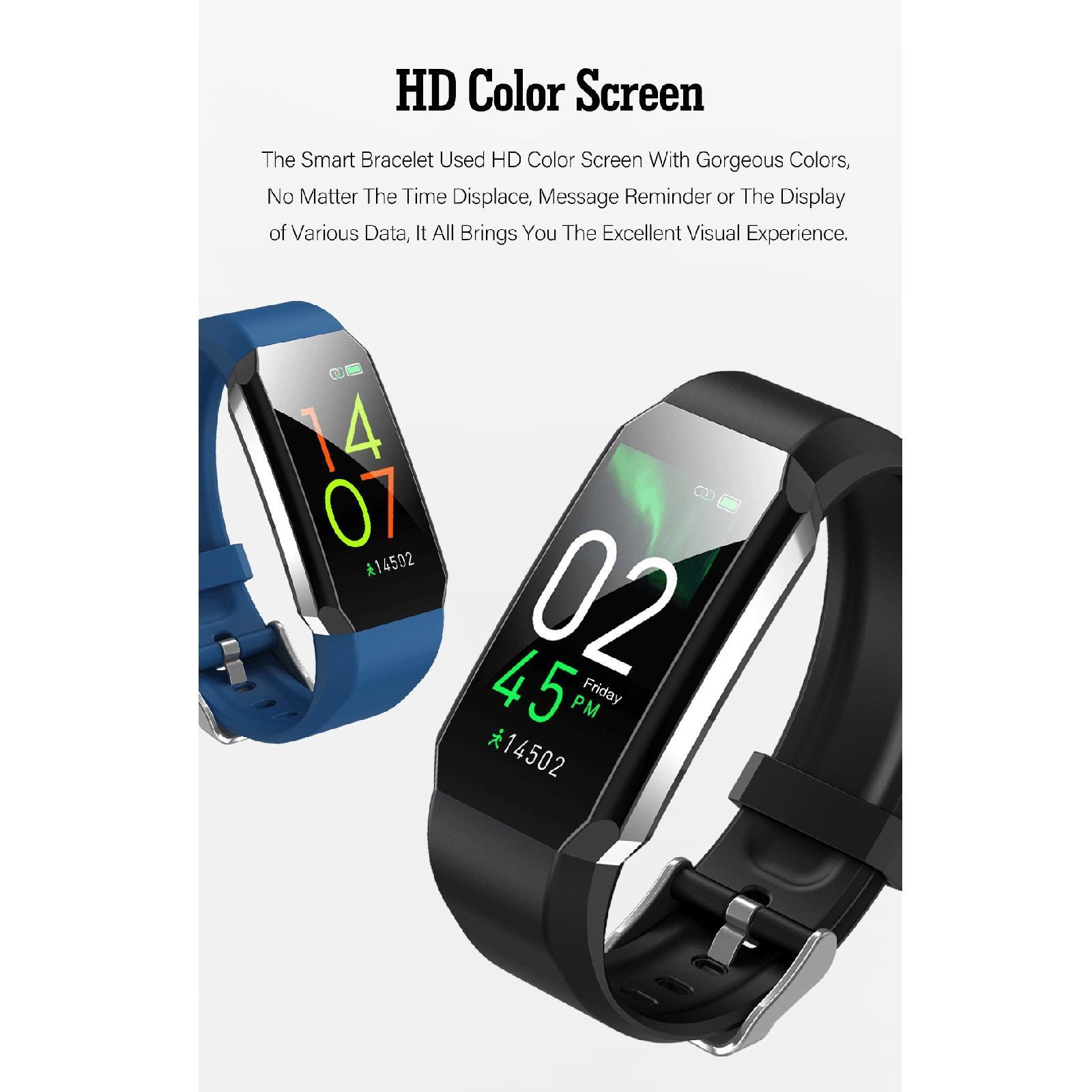 Indexbild 6 - Wasserdichtes Smart Watch Blutsauerstoffdruck Herzfrequenzmesser Armband