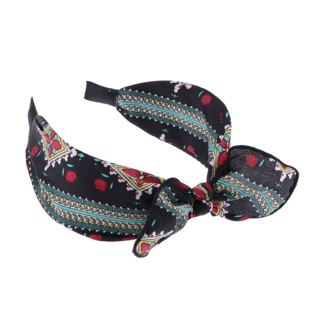 Frauen Stirnband Twist Haarband Bow Knot Cross Tie breite Kopfbedeckung Hoop Sg